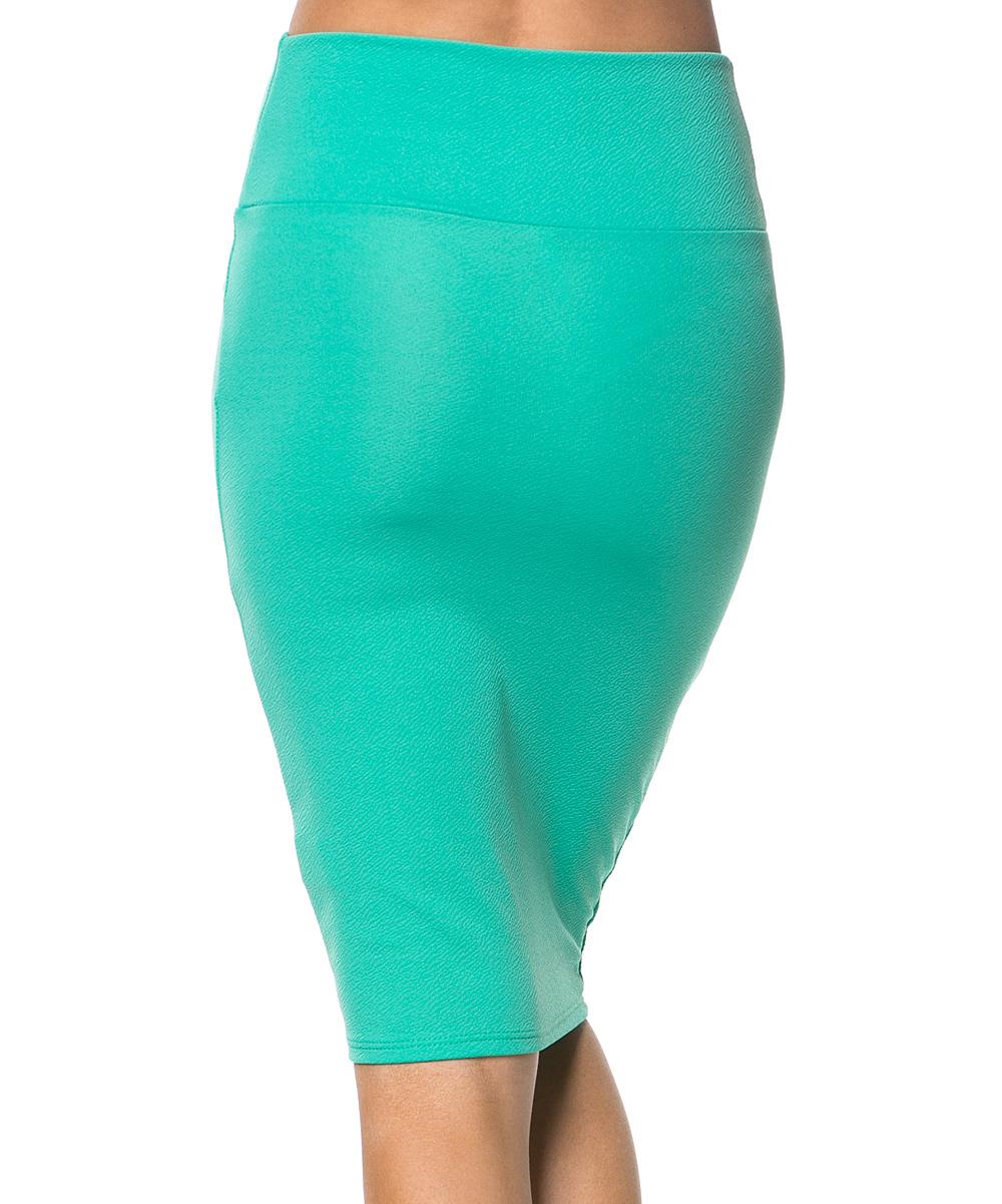 magic fit mint pencil skirt zulily