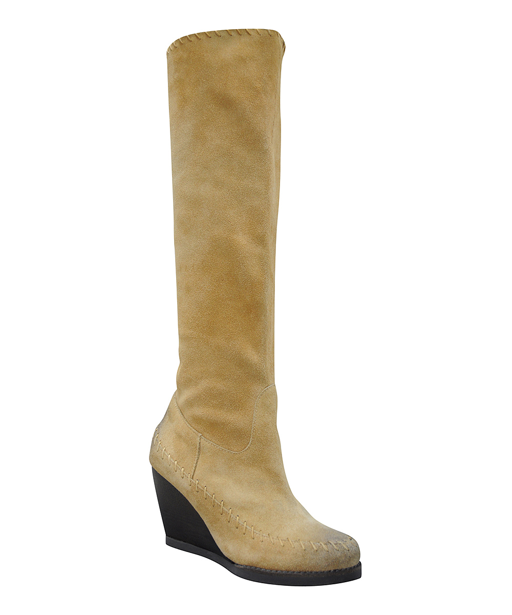 sbicca brood suede wedge boot zulily