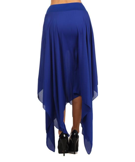 tropical wear royal blue handkerchief maxi skirt zulily