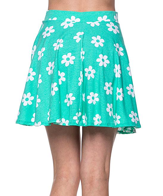 k mint pleated skirt zulily