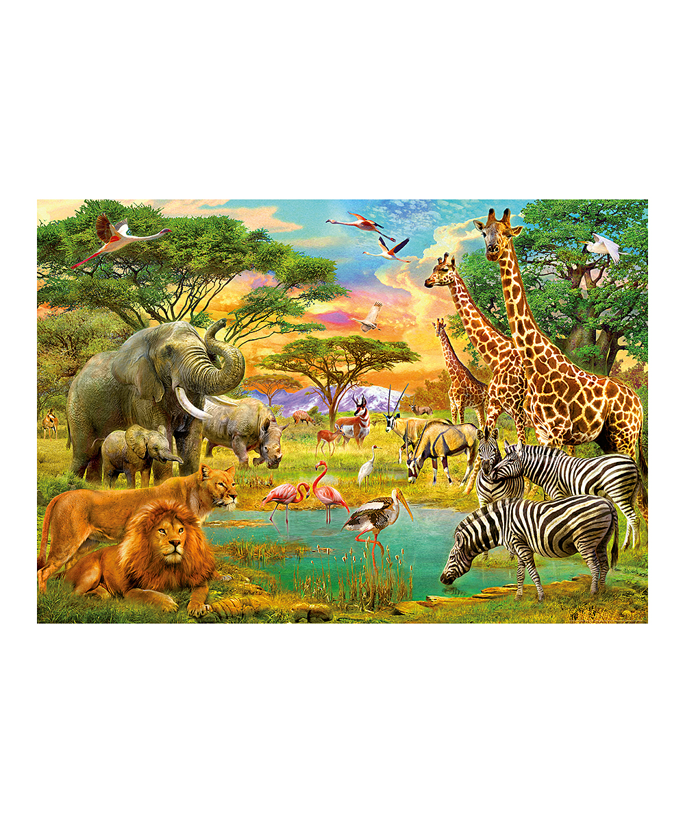 Brewster home fashions african animals wall mural zulily for African wall mural