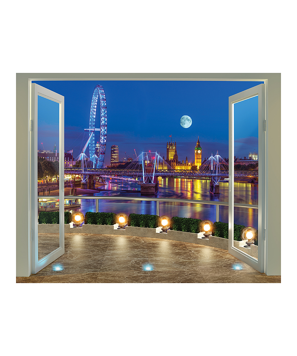Brewster home fashions london skyline wall mural zulily for City scape wall mural