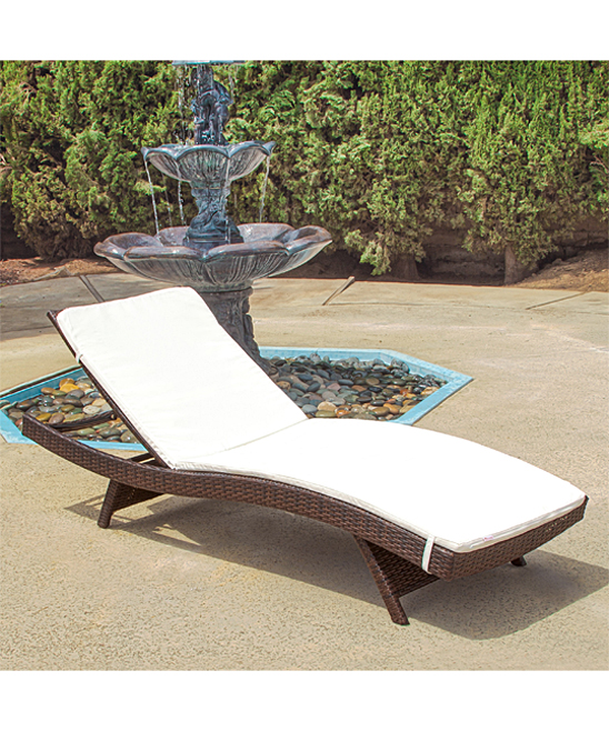 Noble house home furnishings brown wicker adjustable for Brown wicker chaise lounge