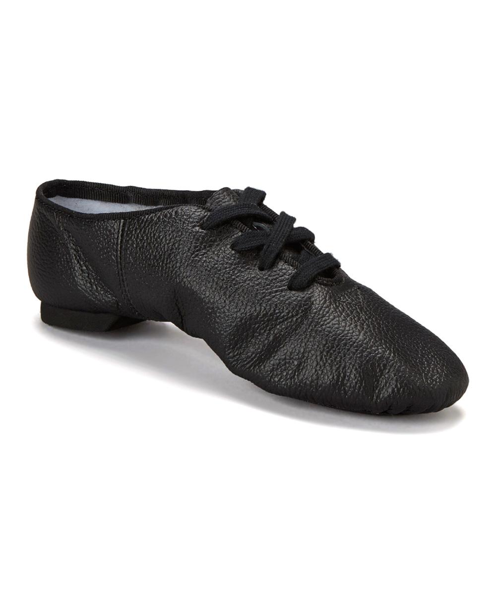 black split sole leather jazz shoe