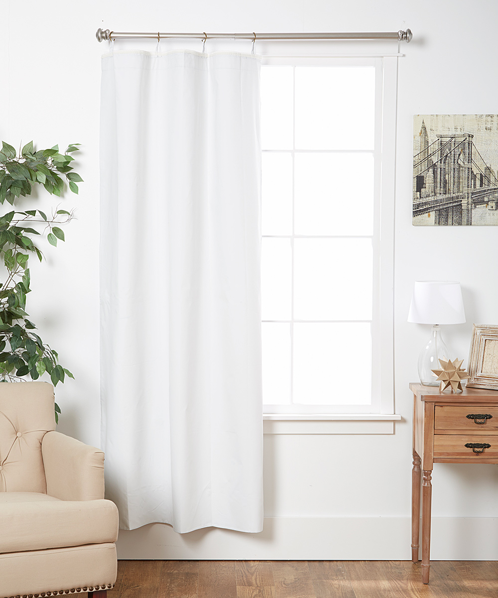 white thermal blackout curtain liner