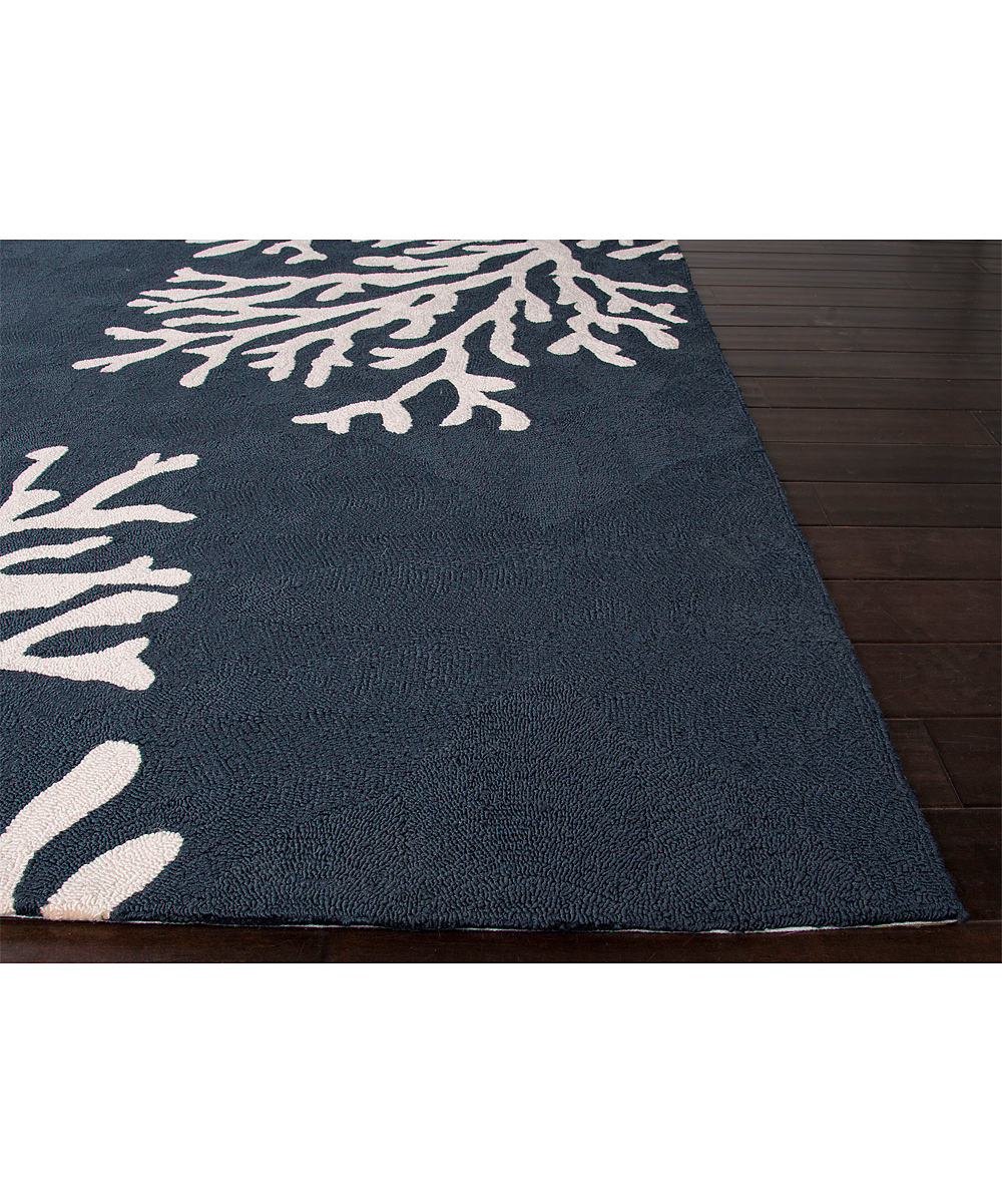 Jaipur Rugs Blue & White Coral Reef Indoor Outdoor Rug