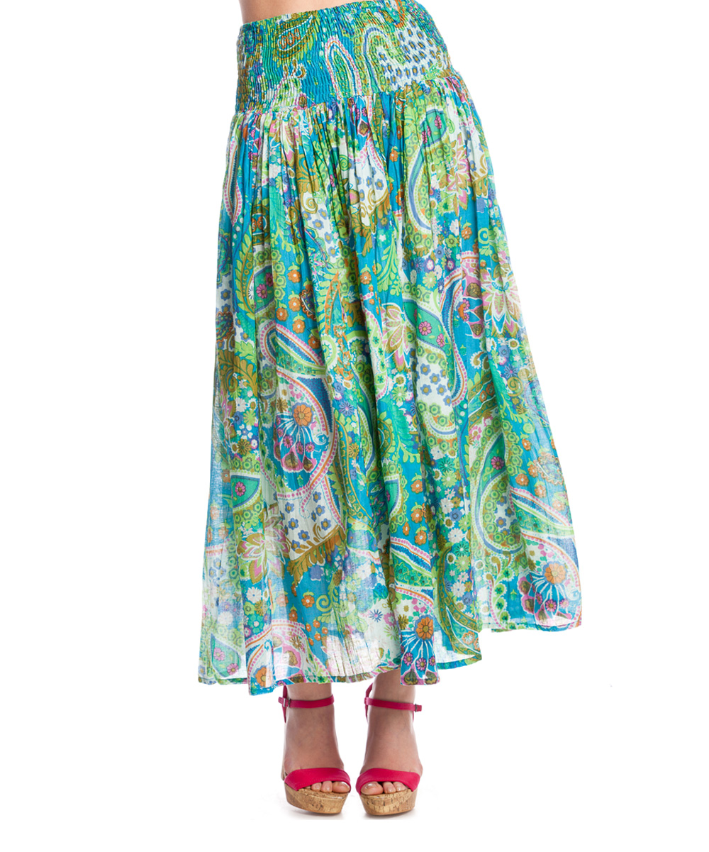 hippyssidy turquoise laos maxi skirt zulily