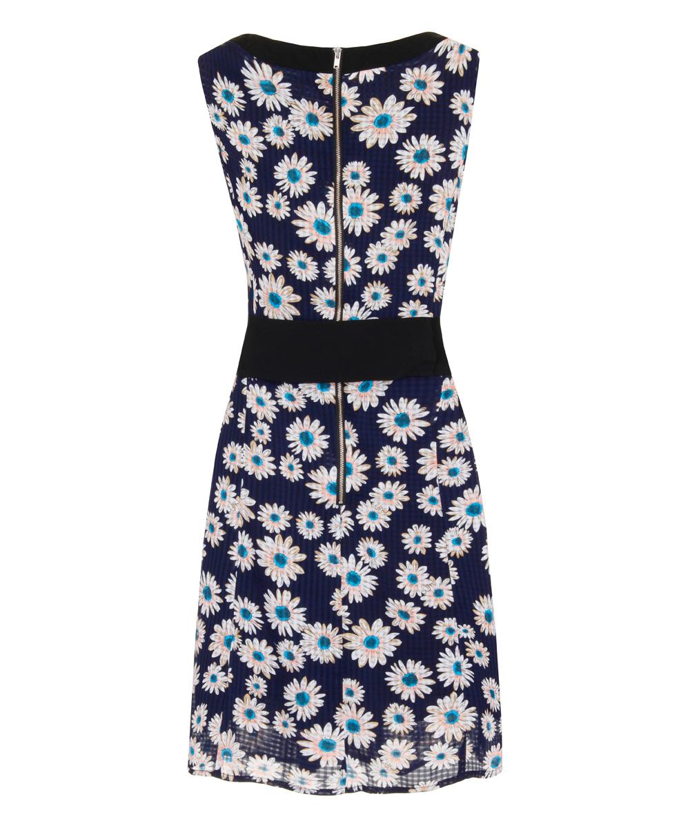 alices pig blue white bibis belt sleeveless dress zulily