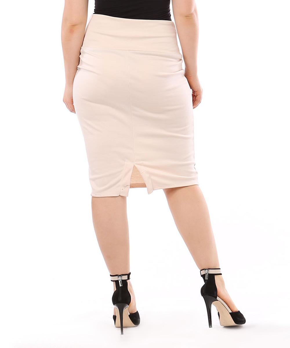 sand pencil skirt