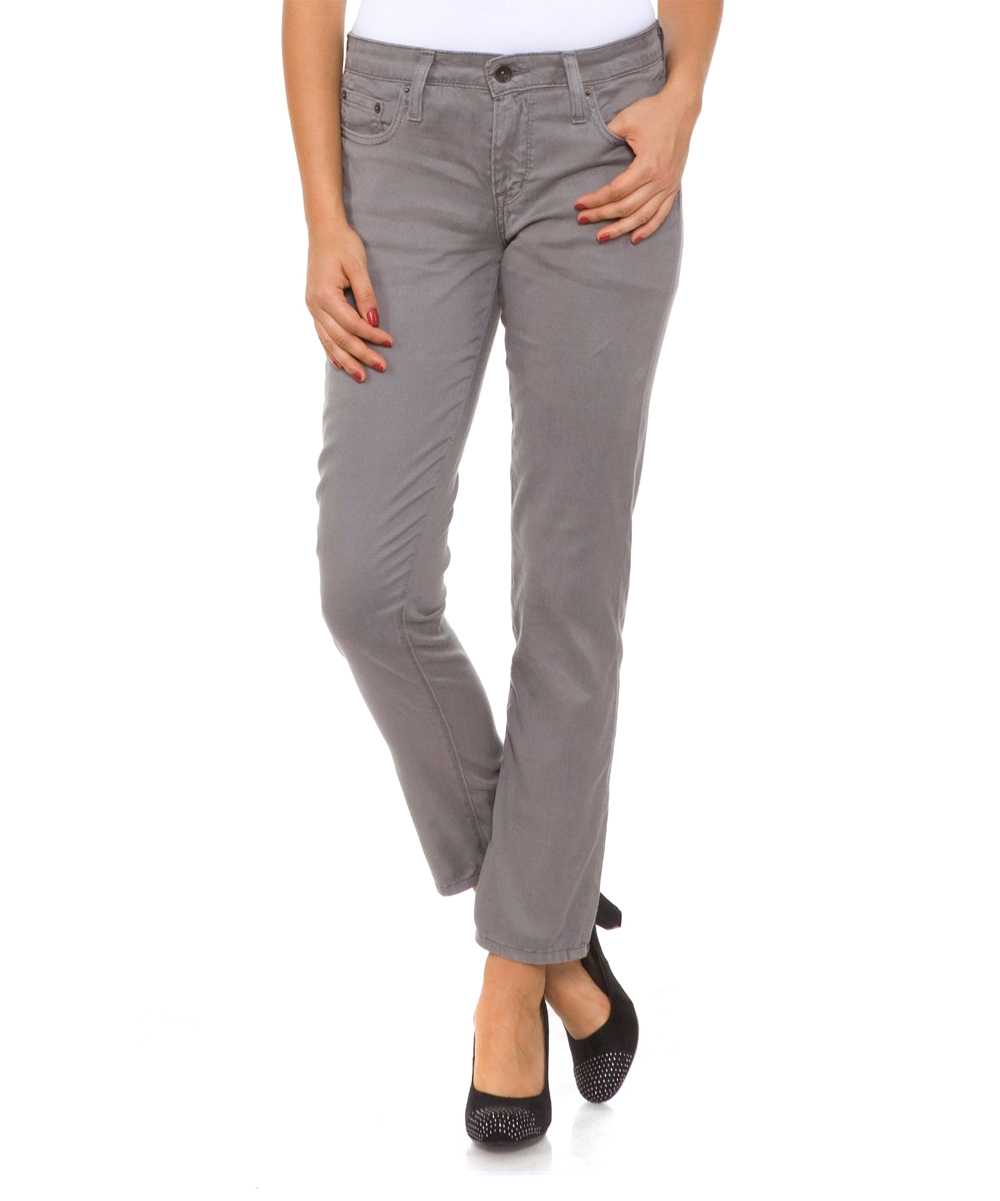 fornia pale gray crop skinny jeans zulily. Black Bedroom Furniture Sets. Home Design Ideas