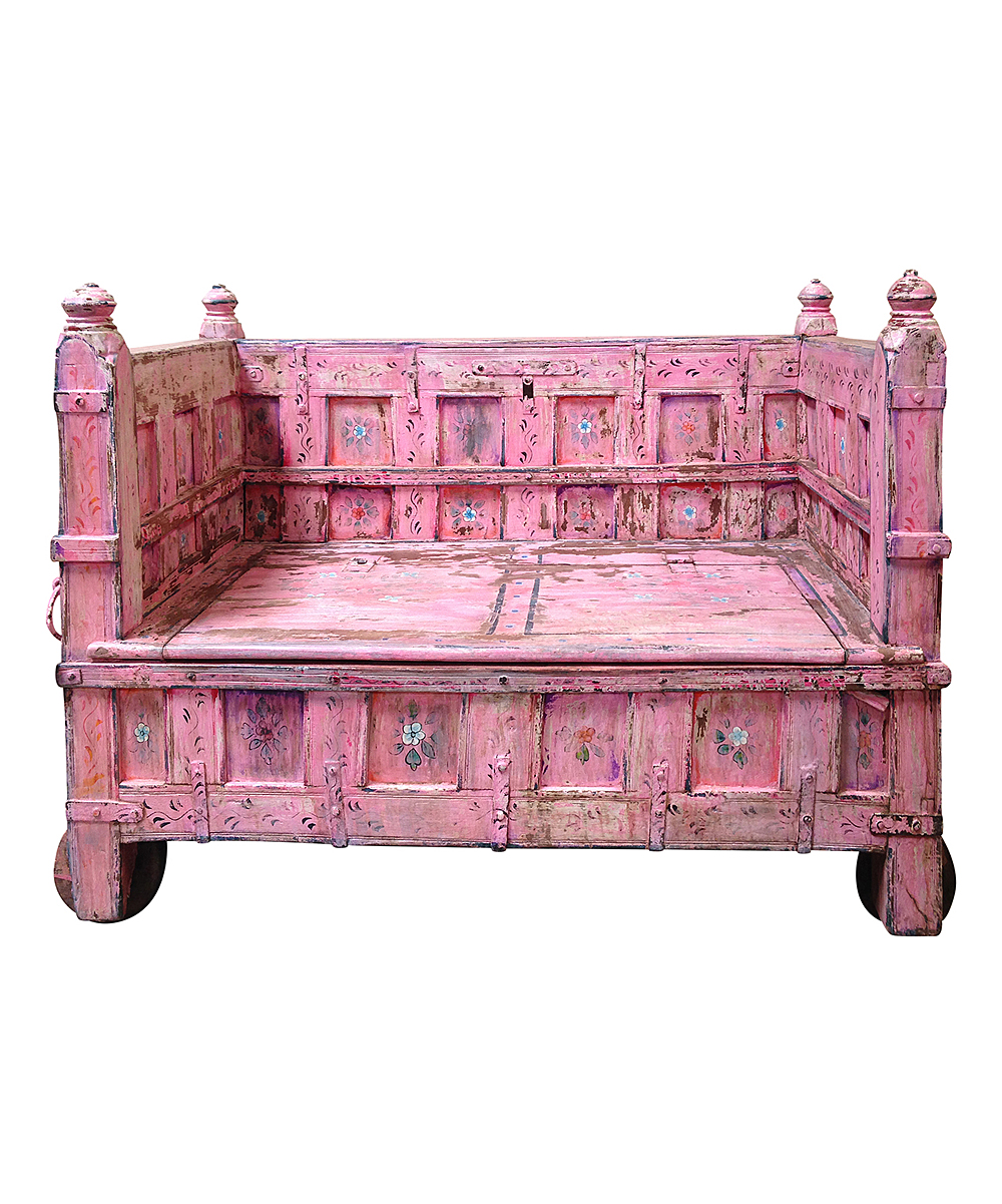 Vintage Addiction Pink Antique Storage Bench Zulily