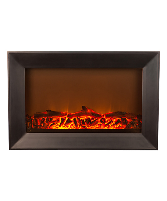 Fire Sense Black Wall Mounted Electric Fireplace Zulily