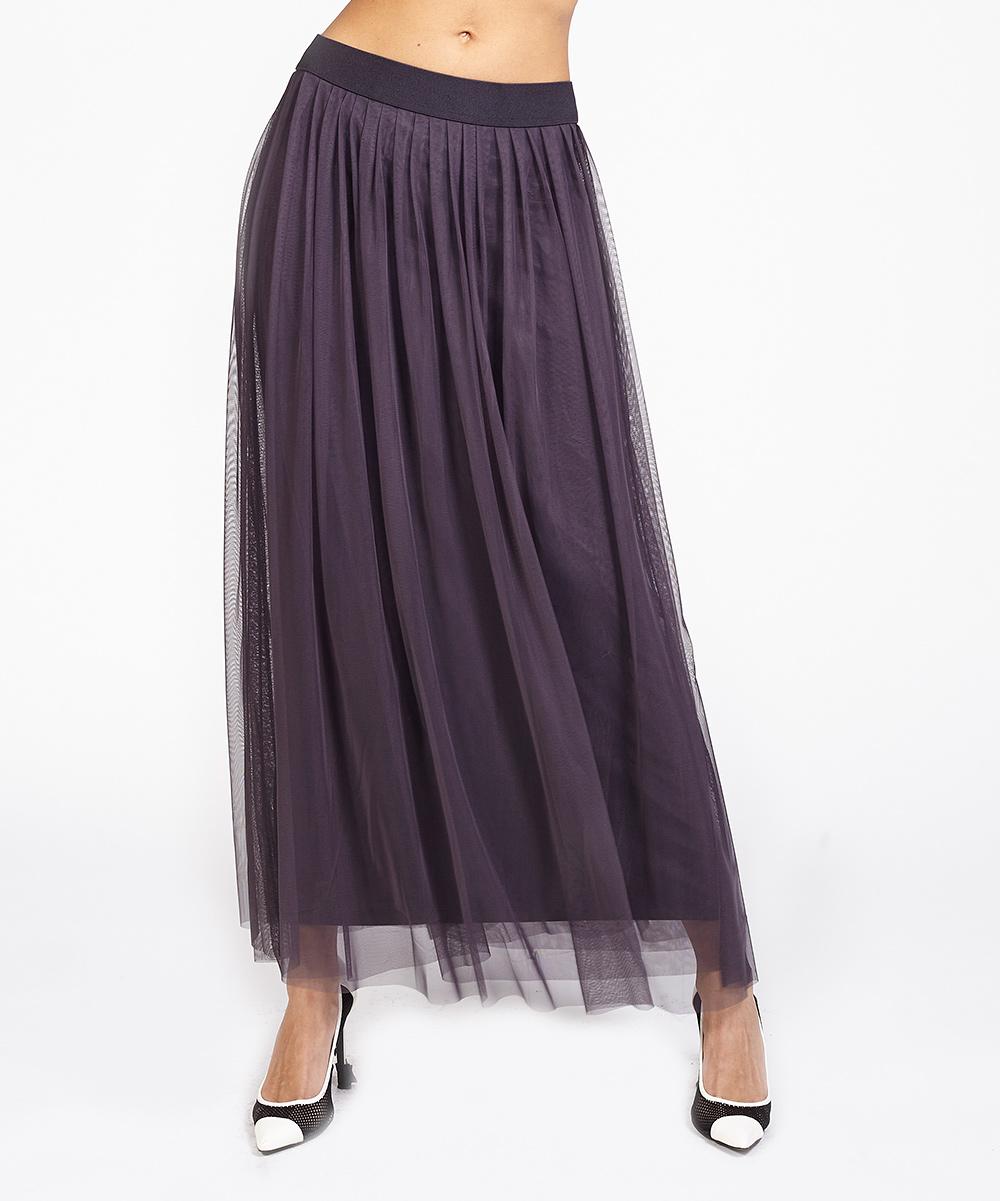 riki gray tulle maxi skirt zulily