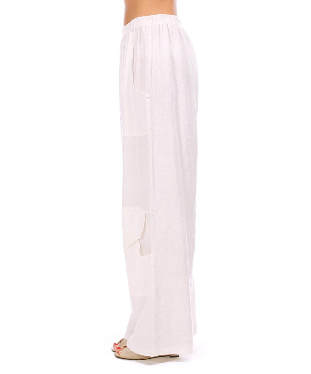 Model Womens White Linen Drawstring Pants Pi Pants  840x1200  Jpeg