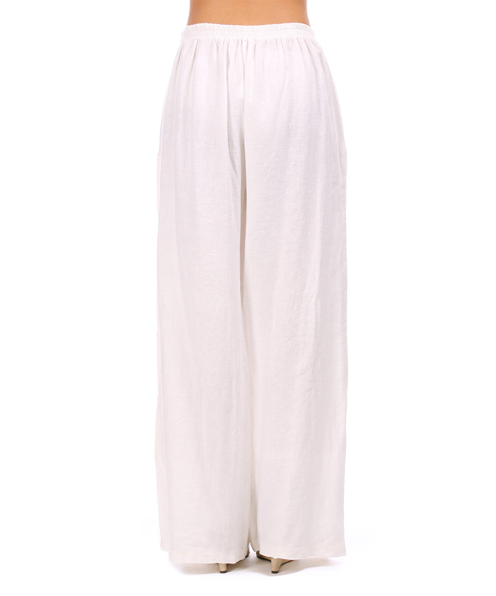 Elegant White Linen Womens Pants  White Pants 2016