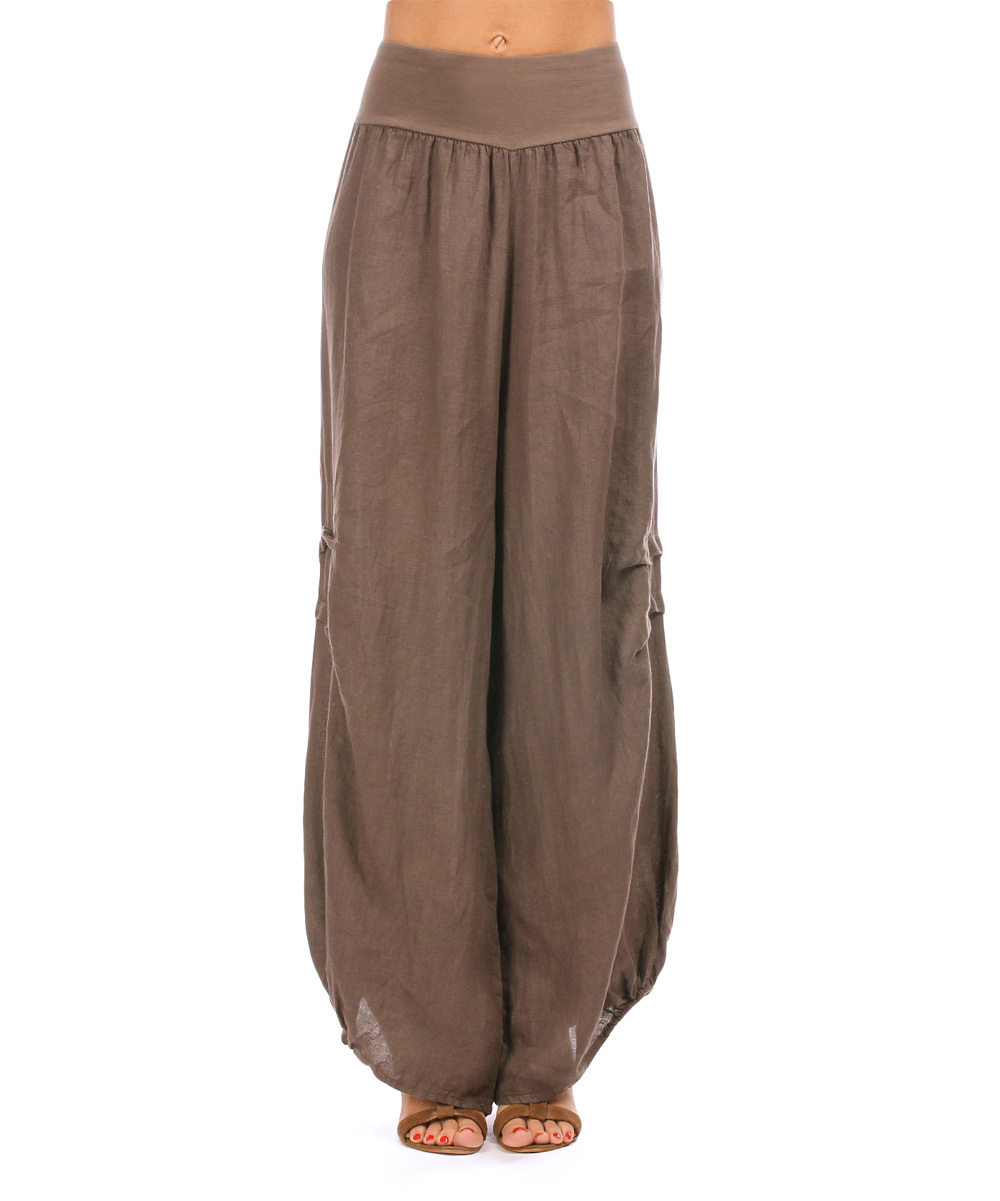 Model Casual Women Harem Pants Super Soft Elastic Waistband Dance Club