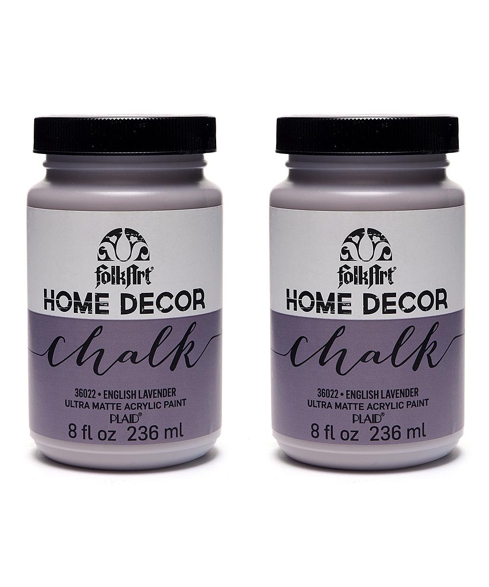FolkArt English Lavender 8 Oz Chalk Paint Set of Two
