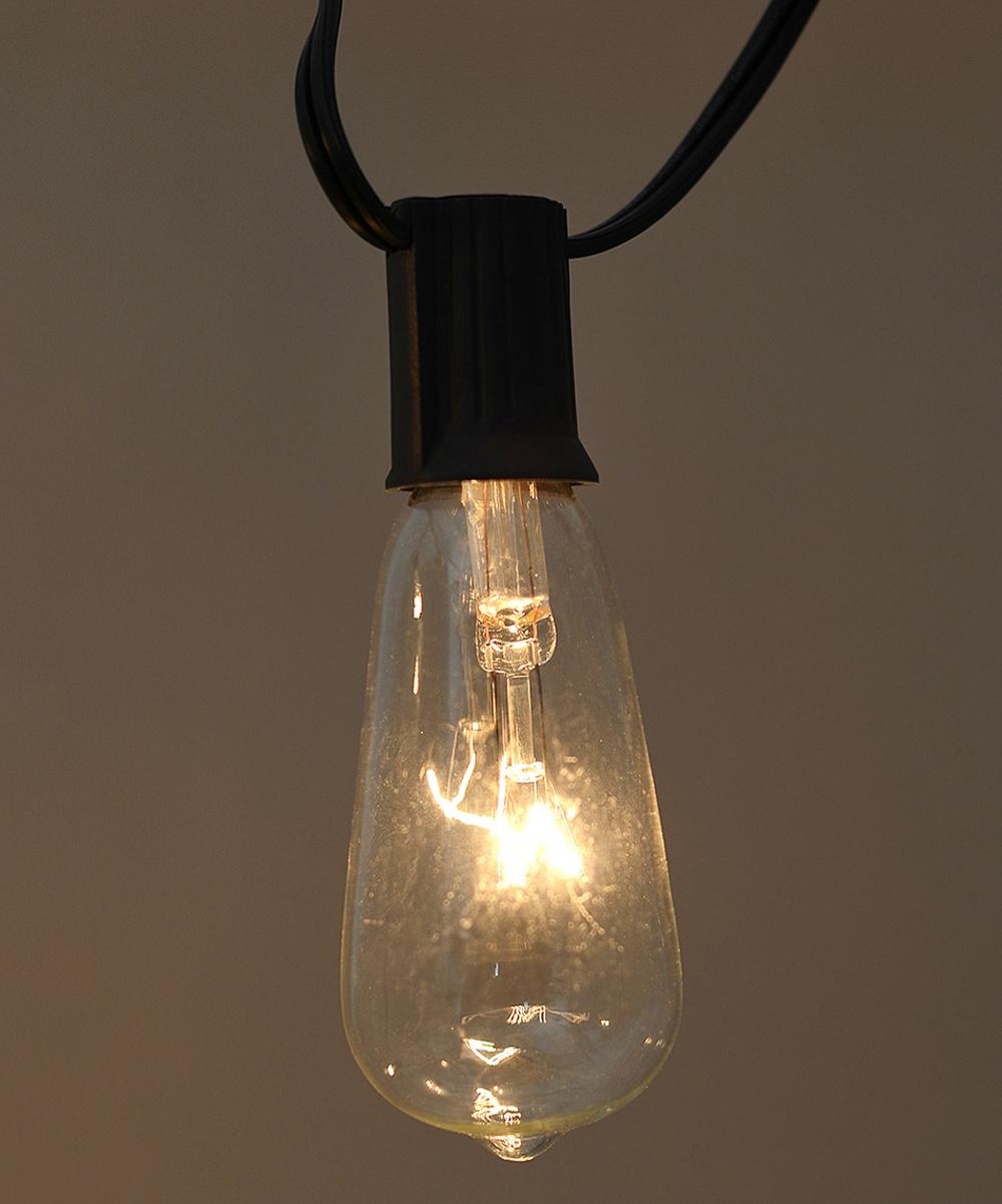 Edison Light Bulb String Lights : Black & Clear Edison Bulb Light String zulily