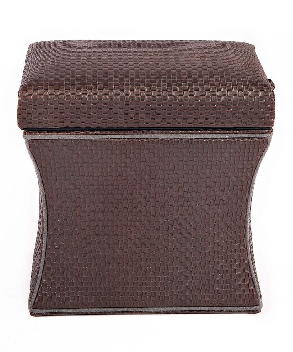 couef chocolate brown storage ottoman zulily
