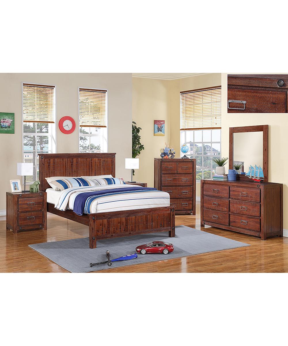 Donco Kids Industrial Brown Bedroom Set Full