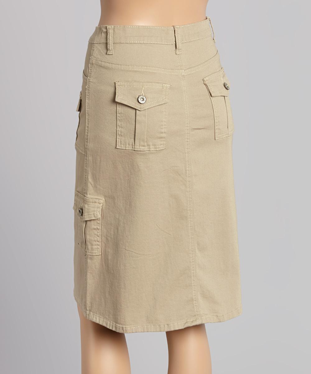 be khaki cargo skirt zulily