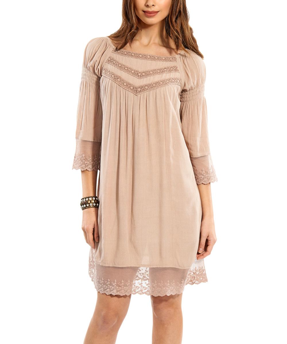 Unique Peach Sleeveless Dress  Women  Zulily