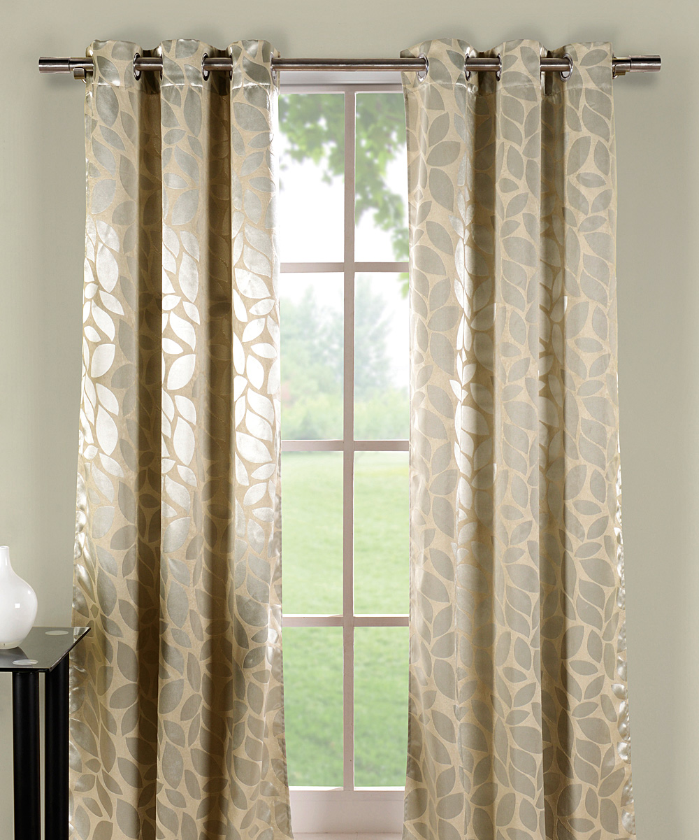 Silver Tan Zayden Blackout Thermal Curtain Panel Set Of Two