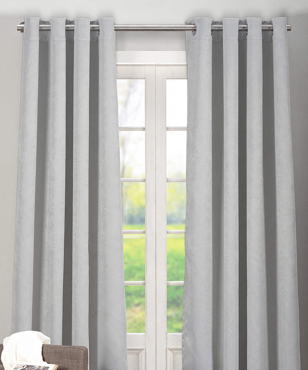 Duck River Textile Light Gray Quincy Blackout Curtain Panel Set Of Two Zulily