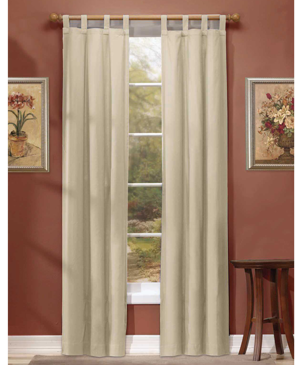 Arlee Home Fashions Natural Woven Blackout Tab Top Panel Set Of Two Zulily