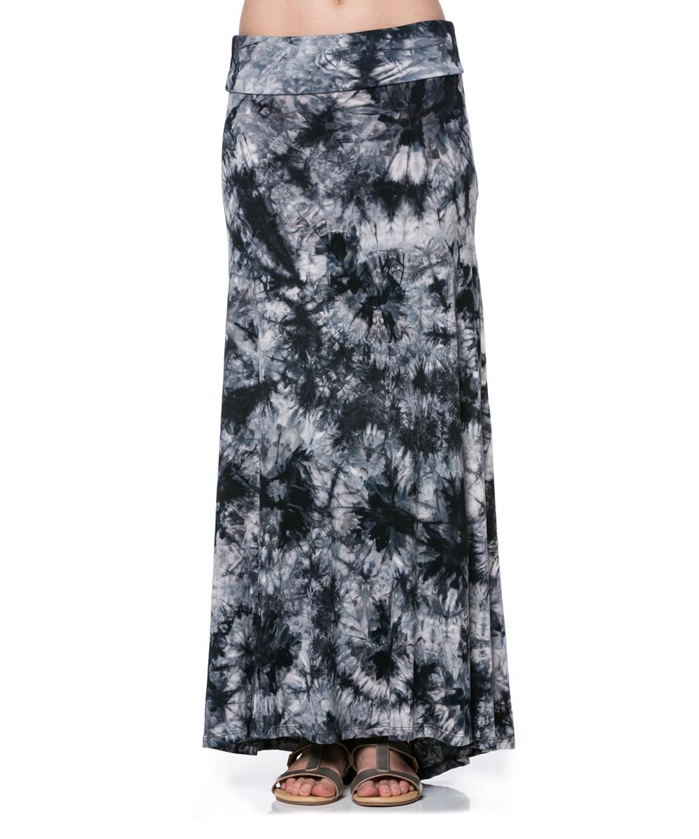 a la tzarina black tie dye maxi skirt zulily