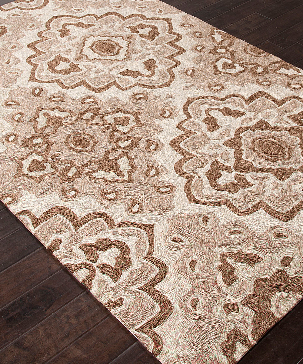 Taupe & Tan Diamond Moroccan Indoor Outdoor Rug