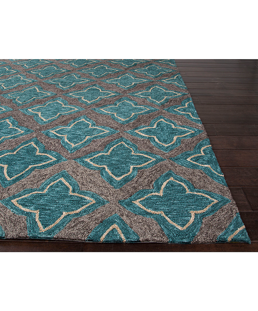Jaipur Rugs Blue & Gray Leaf Moroccan Indoor Outdoor Rug