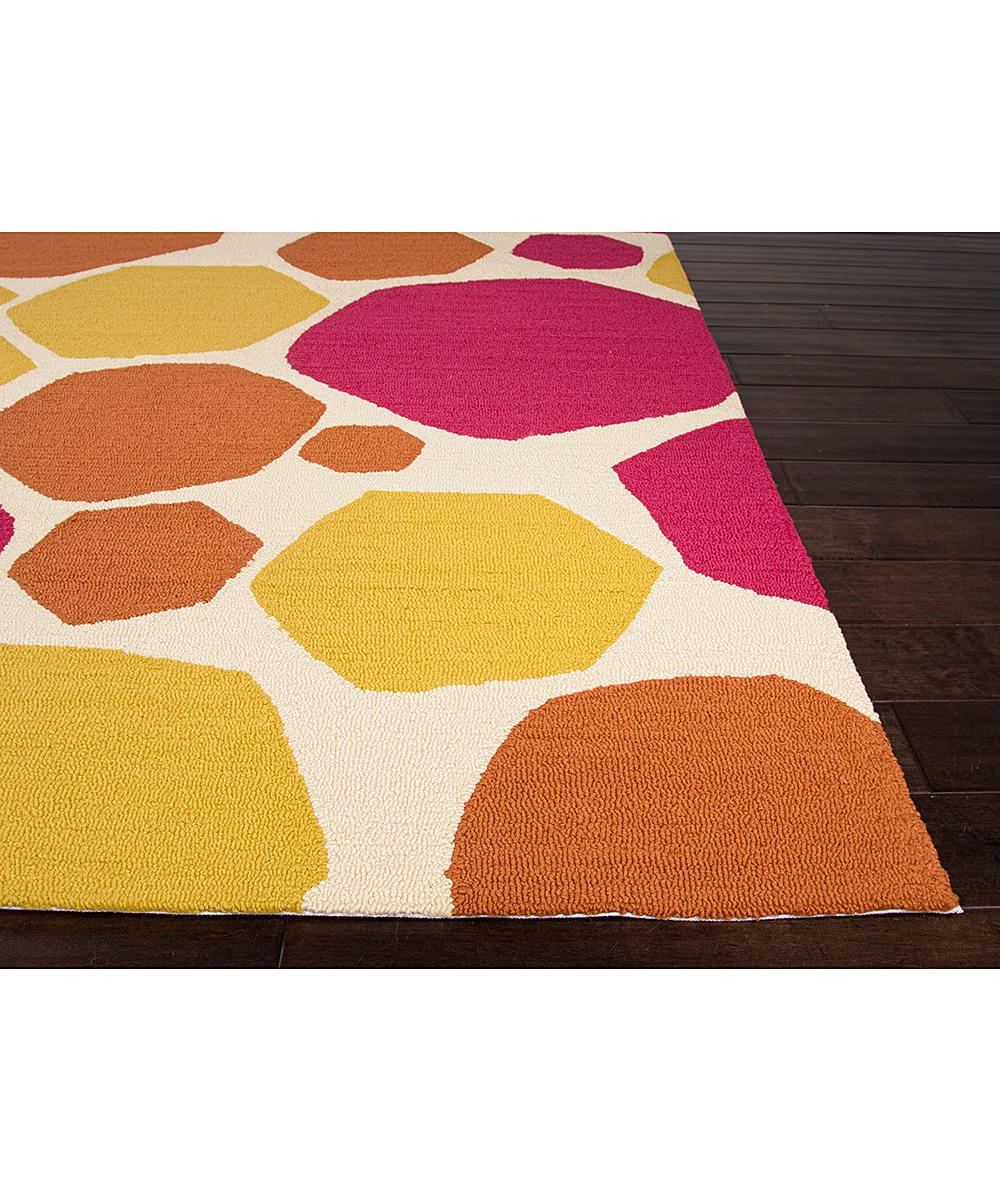 Jaipur Rugs Pink & Yellow Hexagon Indoor Outdoor Rug