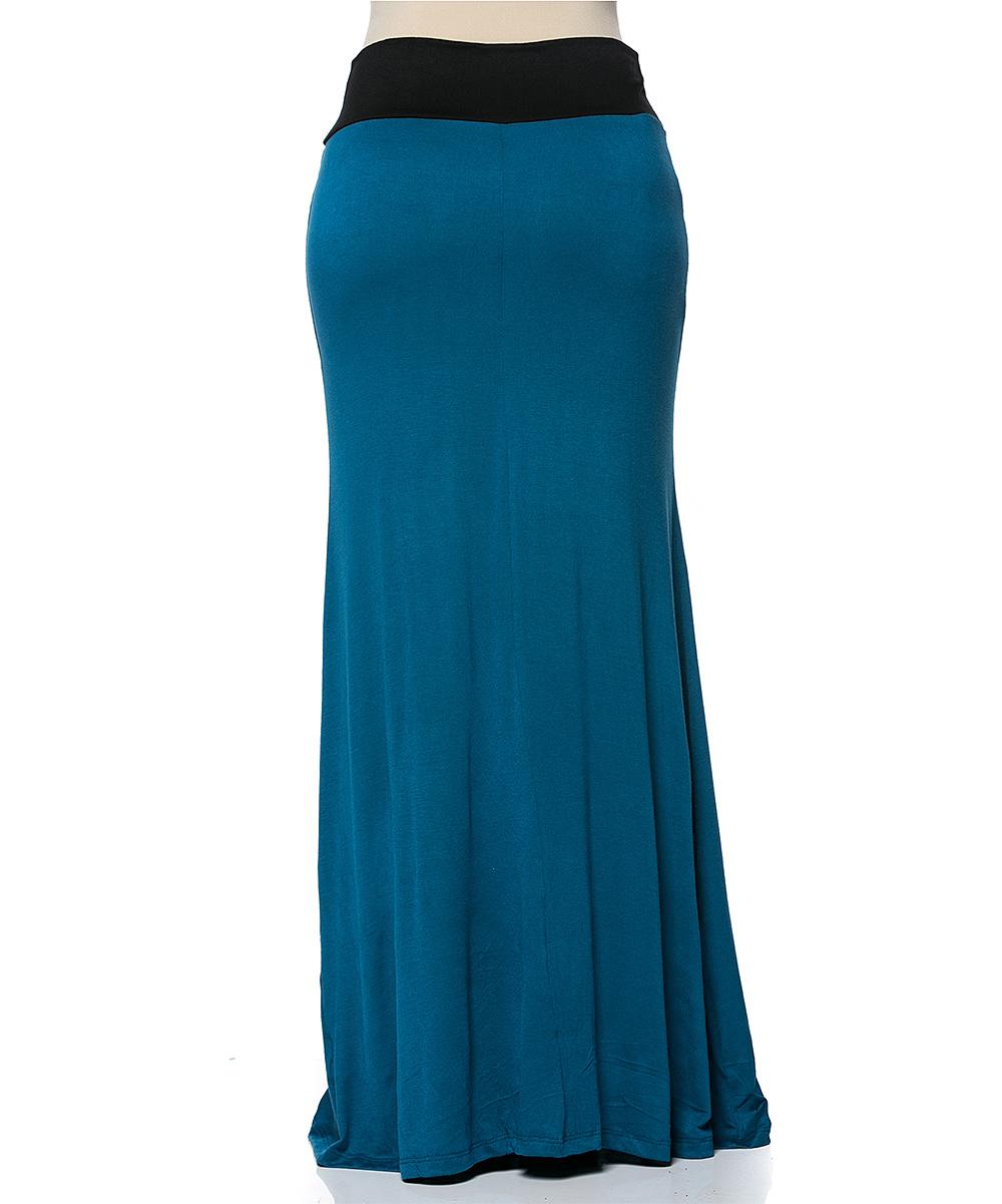 celeste teal maxi skirt plus zulily