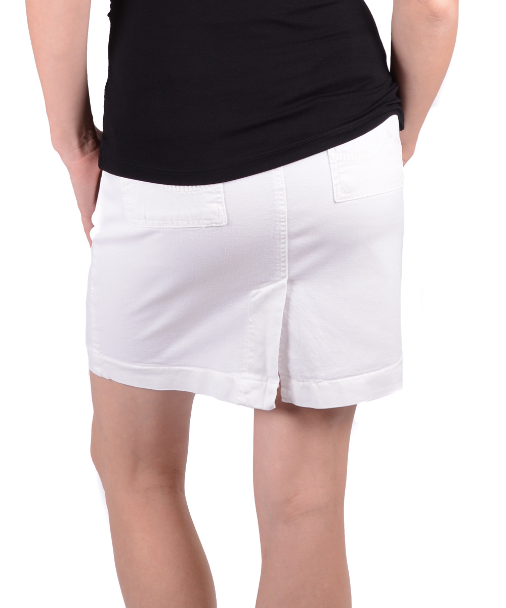 motherway white maternity denim skirt zulily
