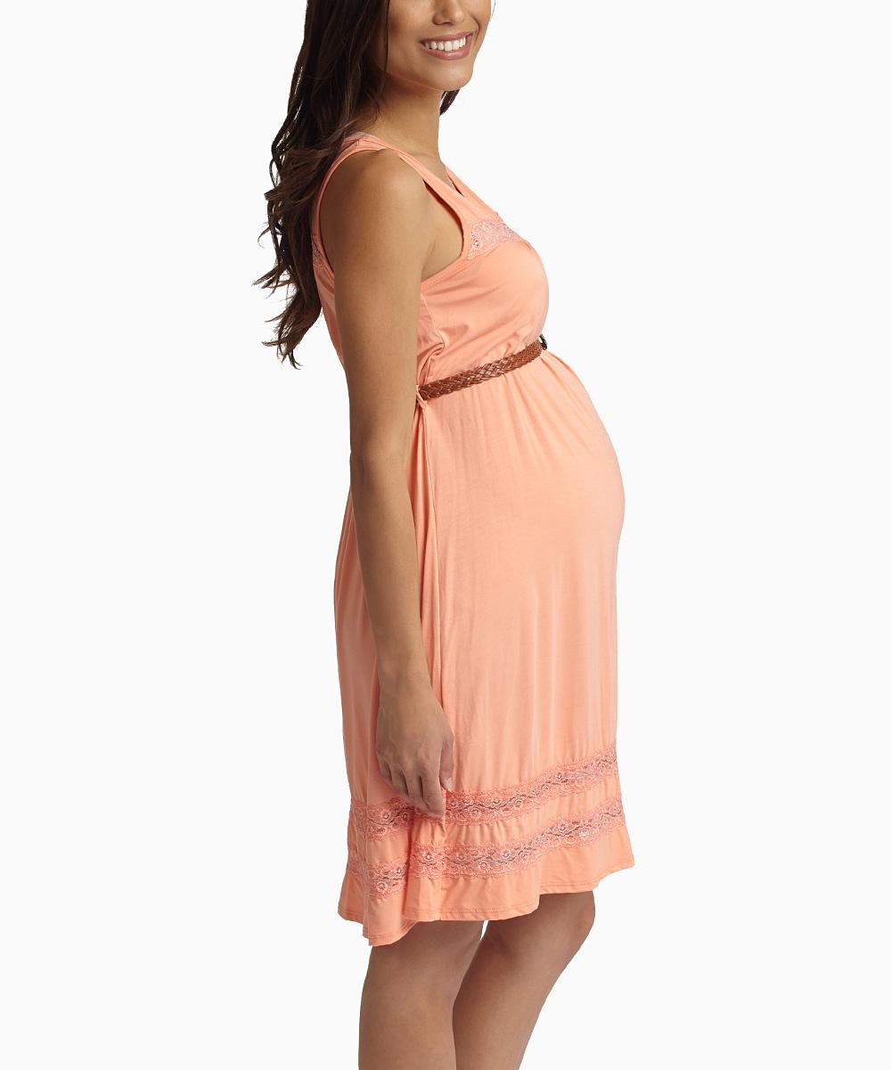 pinkblush maternity pinkblush lace belted maternity