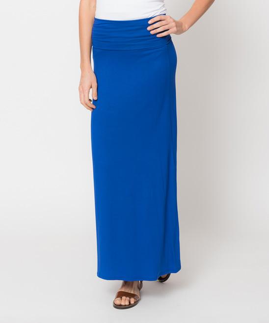 caralase royal blue maxi skirt zulily