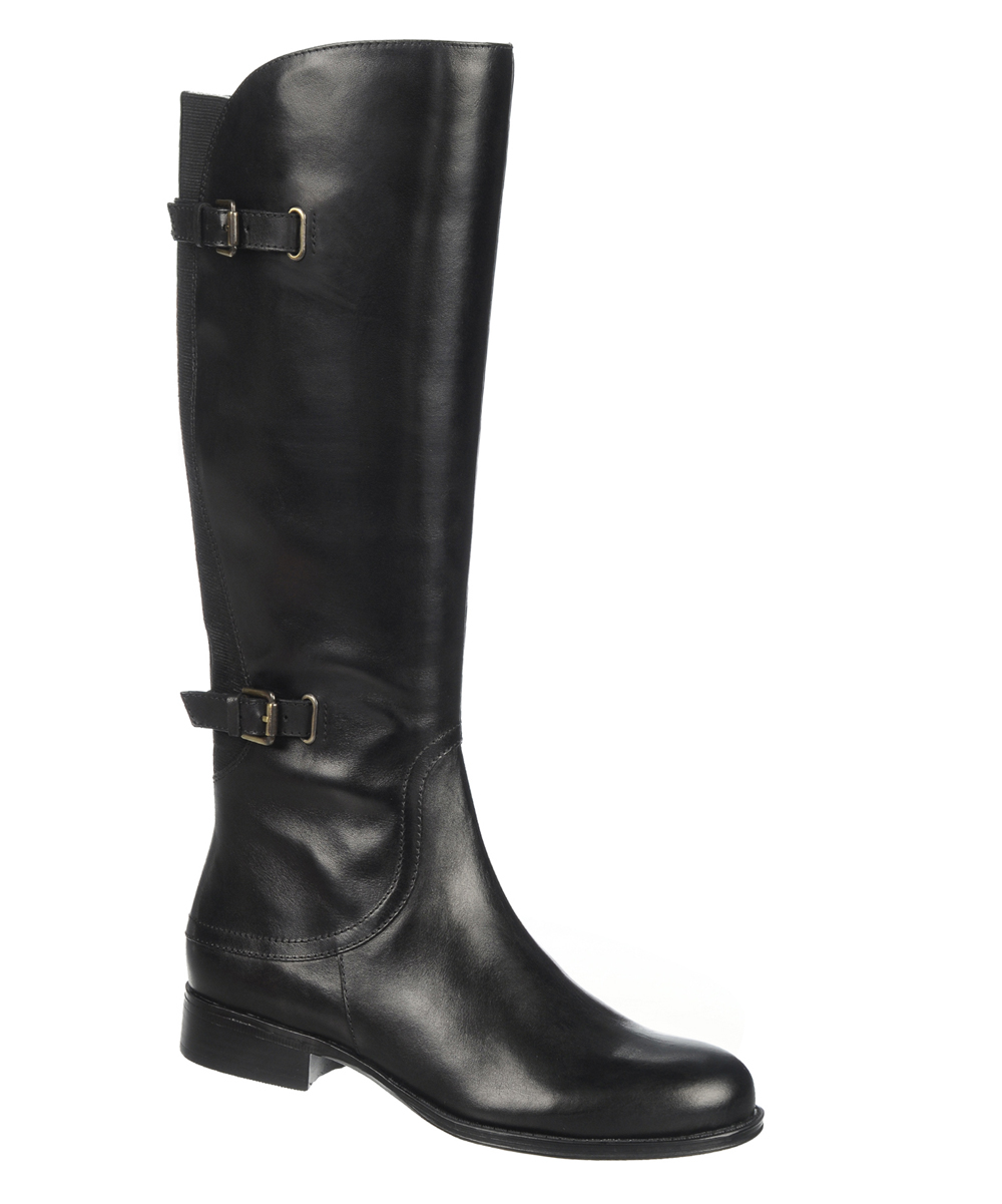 naturalizer black jamison wide calf leather boot