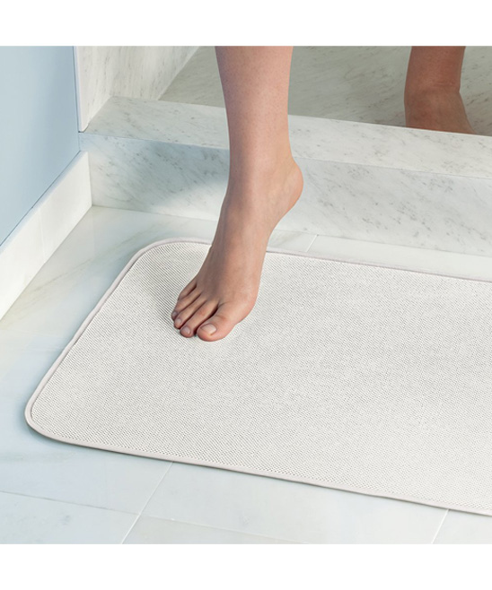 White idry bath mat zulily for Big w bathroom mats