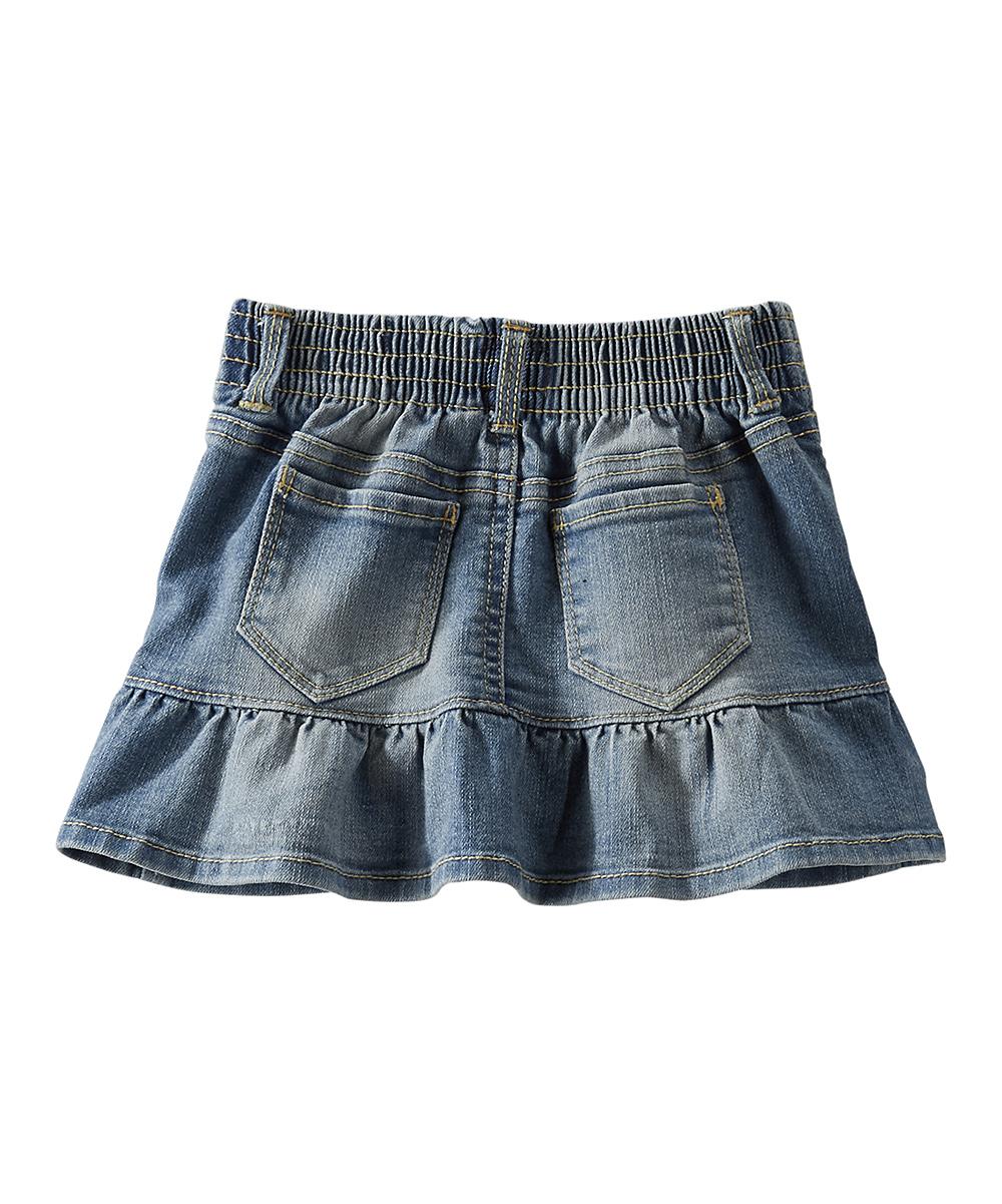 oshkosh bgosh denim ruffle skirt toddler zulily