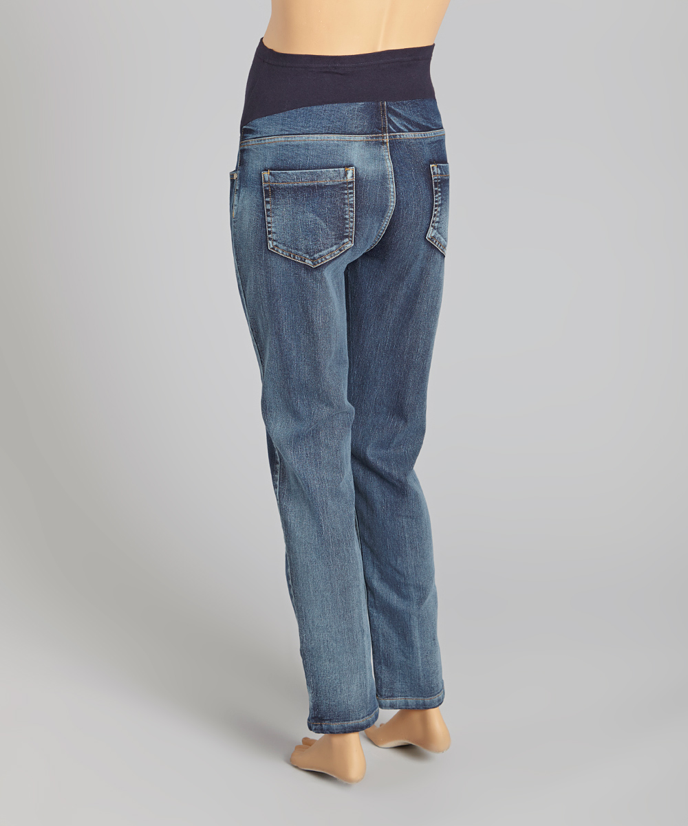 oh mamma light wash over belly maternity skinny jeans. Black Bedroom Furniture Sets. Home Design Ideas