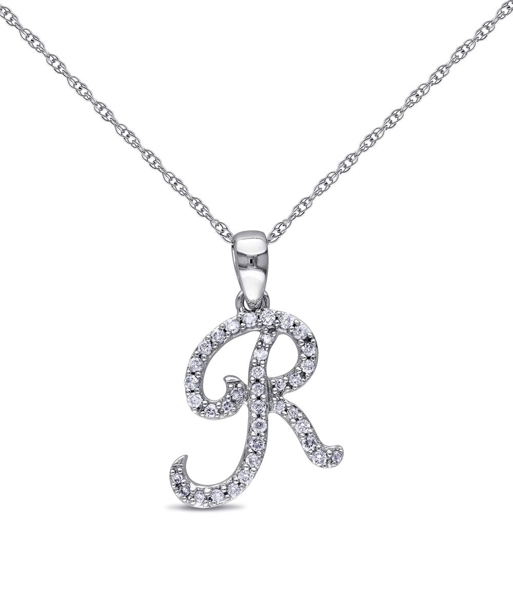 white gold initial pendant necklace zulily