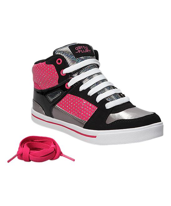 gotta flurt pink hip hop hi top sneaker zulily