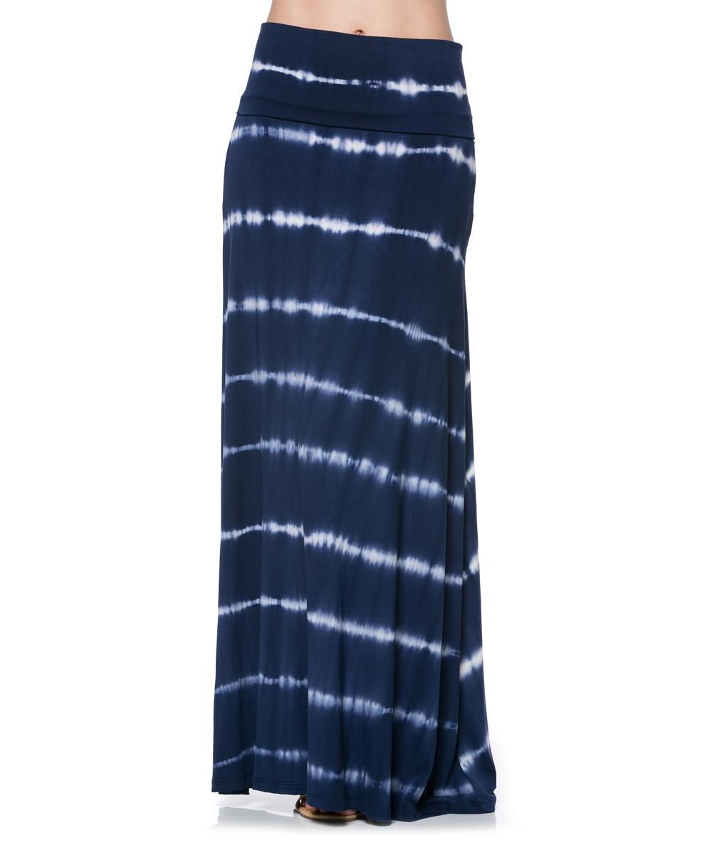 a la tzarina black tie dye stripe maxi skirt zulily