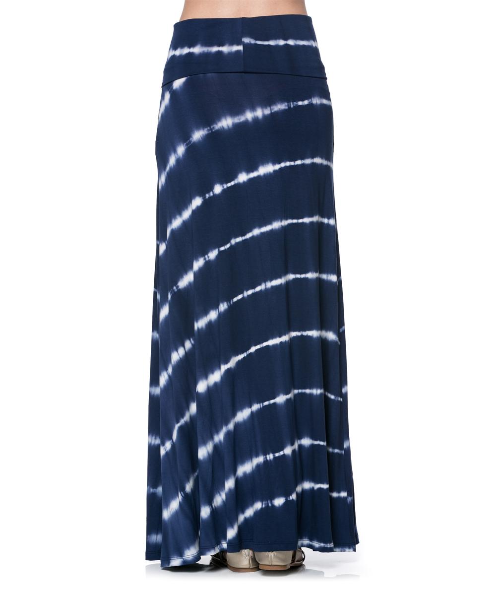 black tie dye stripe maxi skirt