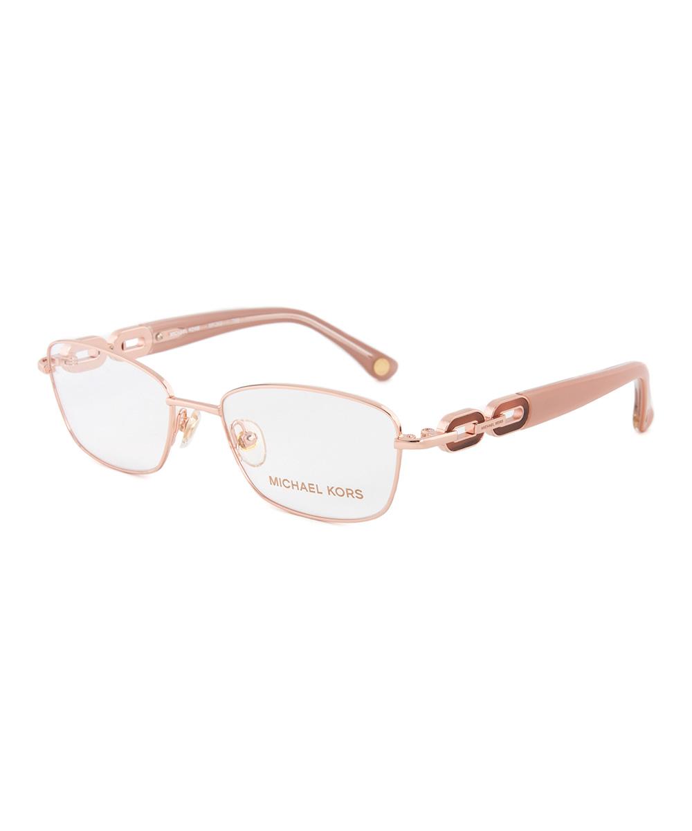 michael kors gold tortoise link frame eyeglasses zulily