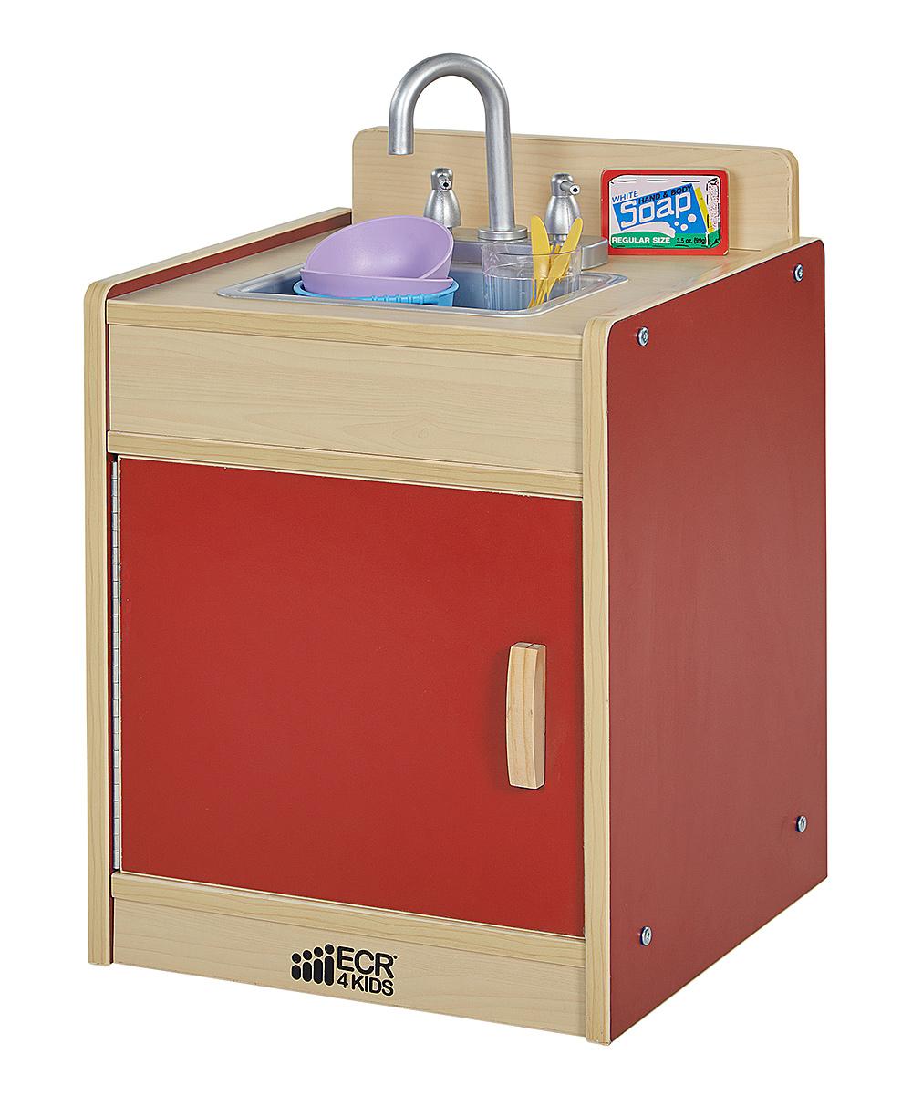 Red Kitchen Sink : ECR4Kids Red Play Kitchen Sink zulily