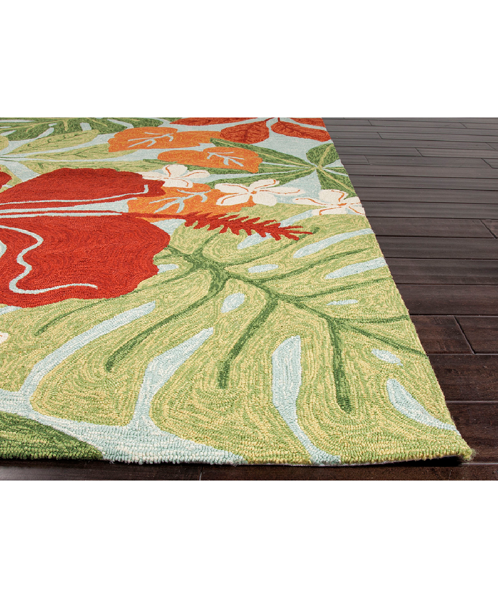 Jaipur Rugs Green & Red Floral Indoor Outdoor Rug