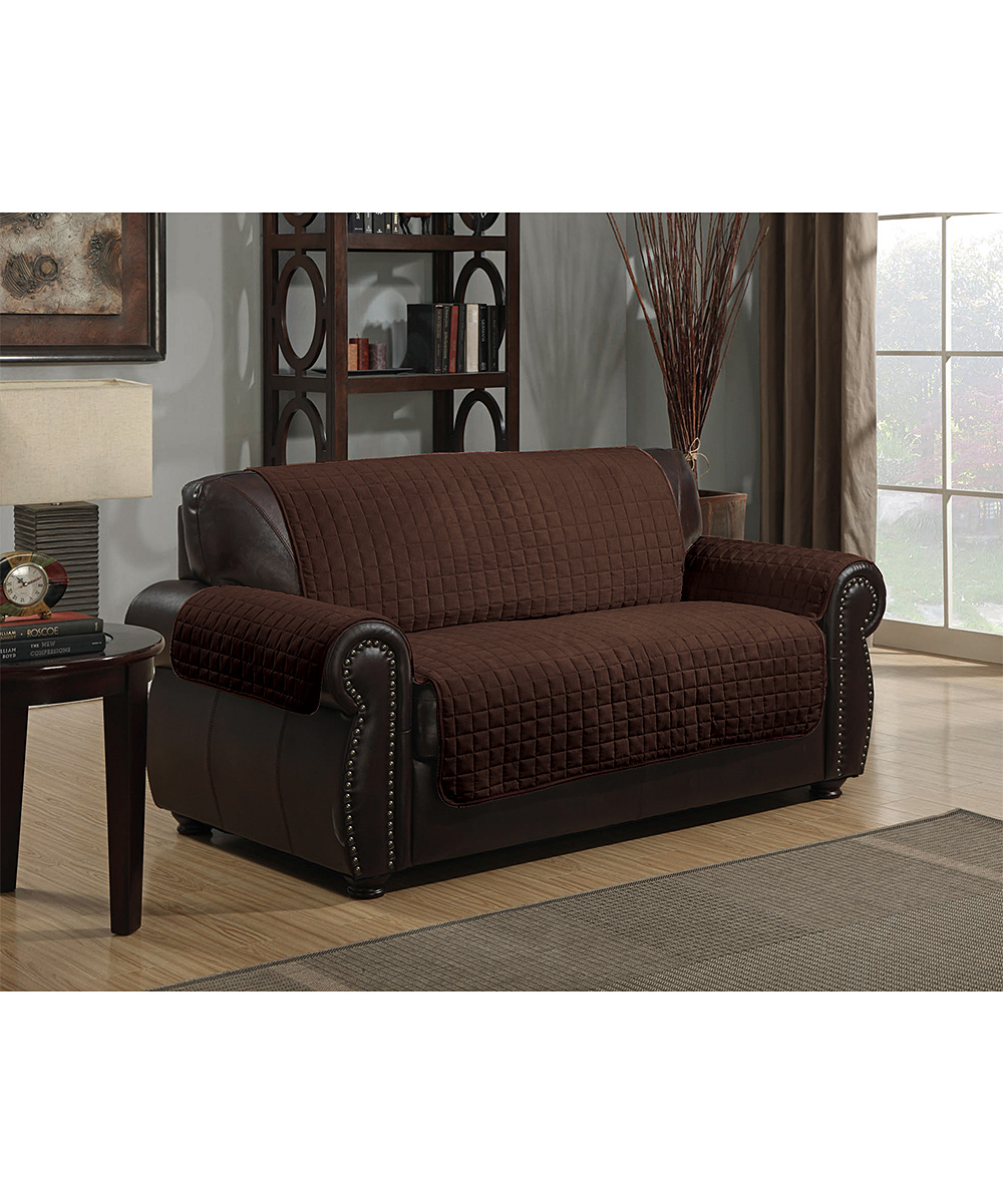 Kashi Enterprises Brown Microsuede Loveseat Furniture Protector Zulily