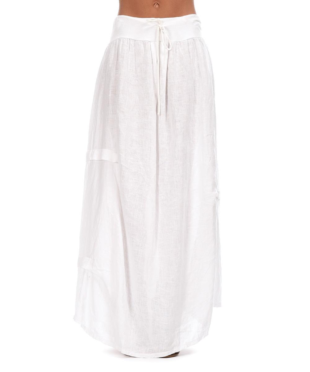 couleur white maurine linen maxi skirt zulily